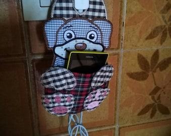 Charging mobile phone holder