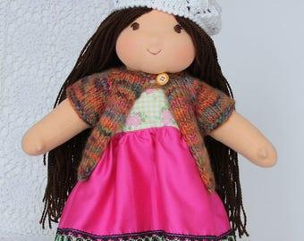 Rag doll, manufactured to walking village-dolls-art