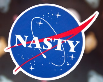 Nasty Woman NASA Sticker - Cool Tumblr Stickers - Girl Power Stickers - Funny Feminist Stickers - Political Women's Movement Stickers - S55