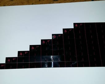 """Measurement Rulers for Skirmish and Wargames (3"""" to 10"""")"""