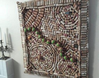 Upcycled Cork Art