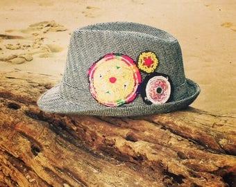 Grey Winter Fedora Hat