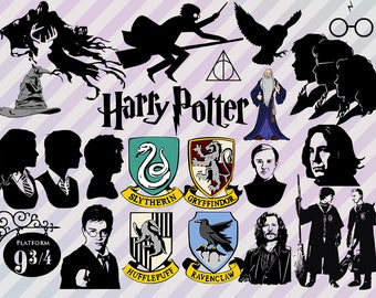 Harry Potter Svg, Harry Potter Clip art, Harry Potter cut files, png, dxf, eps files for silhouette cameo or cricut, Harry Potter dxf