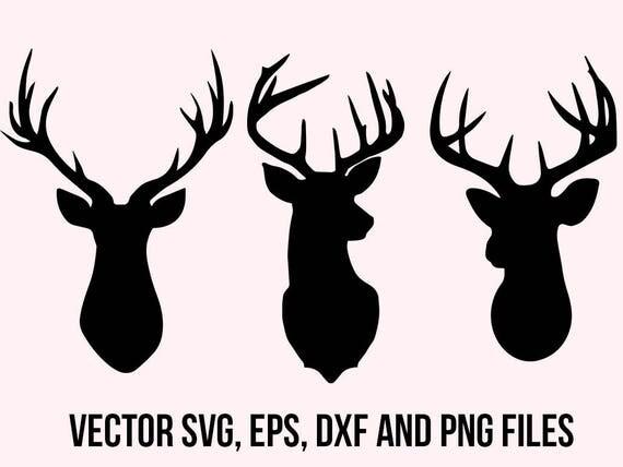 Download Deer Svg Clipart Deer head svg Deer dxf Cuttable deers