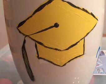 Graduation Coffee, Wine, Beer, Mug Hand Painted