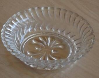 """Vintage 4"""" Glass Patterned Bowl"""