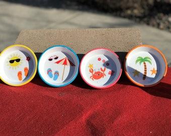 Set of 4 coasters (handmade) indoor or outdoor