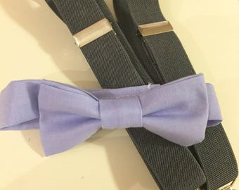 Lavender tie and susprnder set, purple tie