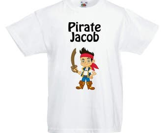 Jake and the Neverland Pirate's Personalised T shirt! Any Name!