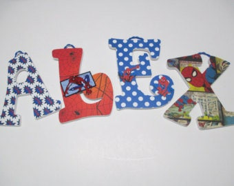 Spiderman Letters Etsy