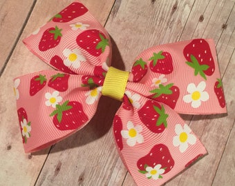 Strawberry Shortcake Grosgrain Ribbon Bow