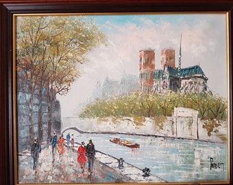 Signed Burnett oil Painting