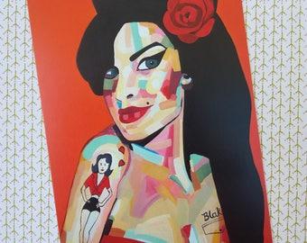 Amy Winehouse postcard