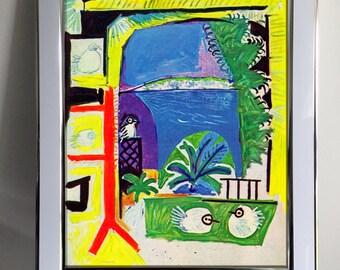 Pablo Picasso, Les Pigeons. Framed Print
