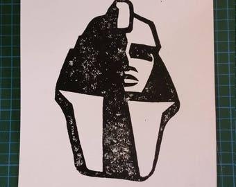 Linoldruck // Sphinx // #2
