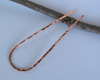 Metal Hair Pin Hair Fork Copper Hair Stick Hair Bun Holder Hair Jewelry Minimalist Hair Clip Hand forged Hair Accessories for Women Gift