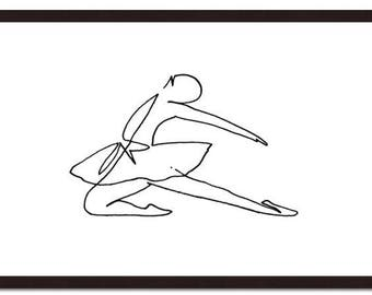 Ballerina 2, ballerine, dancer, danceuse, ligne, line, workline, contemporain, contemporary