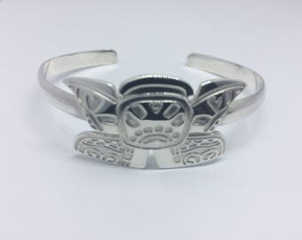 Inspired Collection Solid Sterling Silver Bangle.