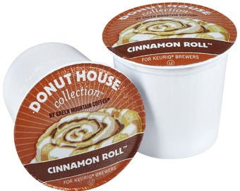 Donut House Cinnamon Roll Coffee, 96 count K-cups, FREE SHIPPING, Very Rare