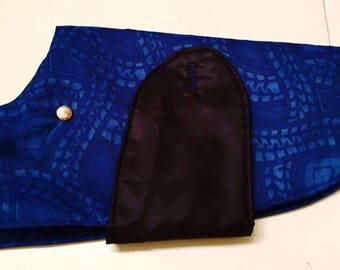 Dog coat blue