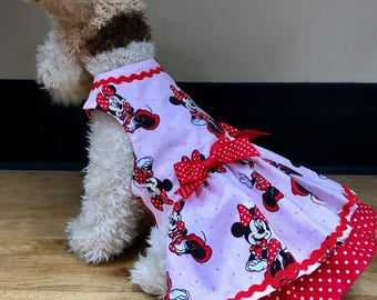 Handmade Minnie Mouse Doggie Dress