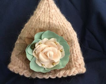 Newborn gnome hat