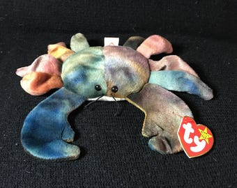 Claude (Crab) Beanie Baby w/ ALL CAPS in Hang Tag - Vintage / Collectible