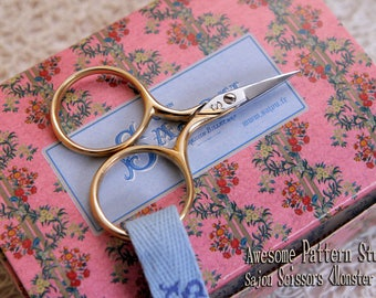 "Sajou Embroidery Scissors ""Little Monsters"" 022 |Needlecraft Scissors|Chenille Scissors|Knitting Shears|Darning Scissors|Sajou Shears"