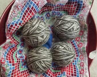 Set of 4 Medium 100% Wool Dryer Balls
