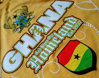 Best Designed Ghana T Shirt with story telling background