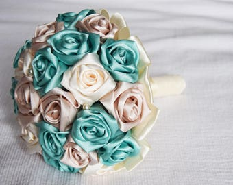 Handmade Satin Flower Bouquet