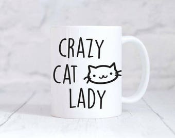 Crazy Cat Lady Mug Cat Lover Gift Gifts For Her Coffee Tea Mug
