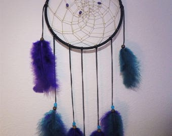 Purple and Turquoise Dream Catcher