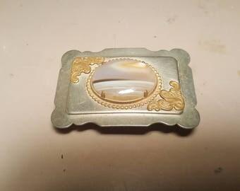 Vintage silver belt buckle
