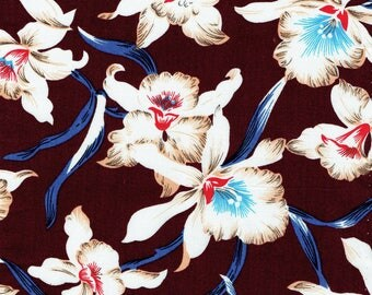 Tropical Floral on Ya! // Cotton Fabric/ By The Yard