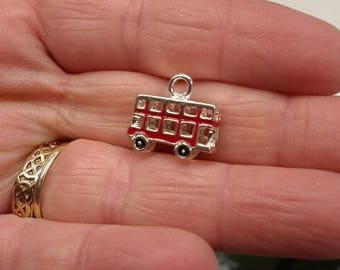 Metal London Bus Charm