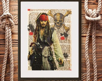 Captain Jack Sparrow, Pirates of the Caribbean, Jack Sparrow poster, digital download, disney posters, Jack Sparrow poster, Pirates pictures