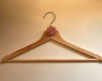 Personalised Wooden Hangers, Bridal Hangers