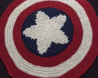 Crochet Captain America Shield Blanket