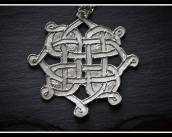 Celtic Design Pendant, Silver Precious Metal Clay (PMC), Handmade, Necklace - (Product Code - ACM005-17)