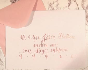 Amy style envelope - hand lettered calligraphy addressing
