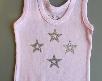 Newborn Baby Girl Star Tank Top
