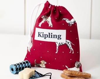 Personalised Dog Treat Bag/Dog Gift Bag/Dog Treat Bag/Dog present