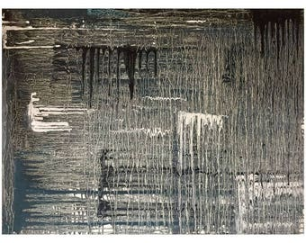 """Original abstract oil painting - """"Rainy Day"""""""