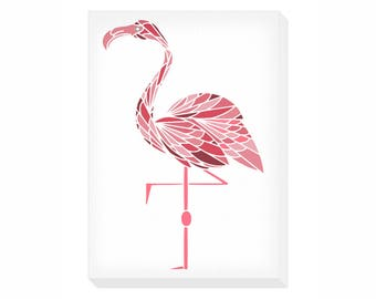 Flamingo Portrait Canvas