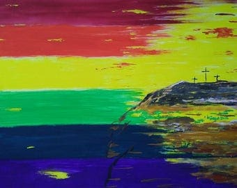 Pride Flag and Crucifixion