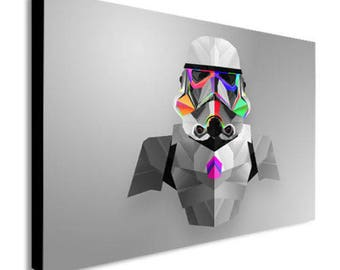 Stormtrooper Star Wars Abstract Canvas Wall Art Print - Various Sizes