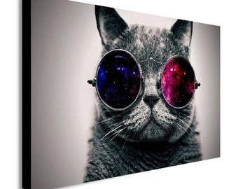 Cool Cat Canvas Wall Art Print - Various Sizes