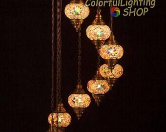 trkische mosaik 9 globus kronleuchter trkische lampe mosaik lampe hngende stil marokkanischem dekor osmanischen licht atemberaubend handwerk globus
