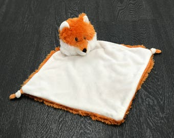 Fox Blankie with Name Personalisation | Personalised Teddy | New Baby Gift | Christening Present | Baby Shower | Communion Gift | Birthday